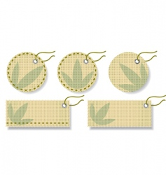 fabric labels vector image