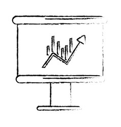 figure board with statistic arrow up to financial vector image