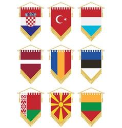 Flag pennants vector