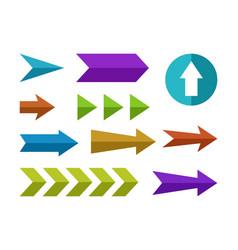 flat arrows set vector image