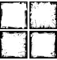 Four black frames vector