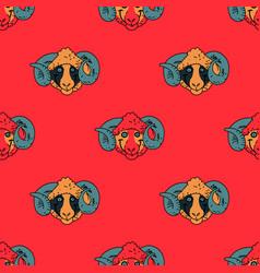 Funky ram seamless pattern vector