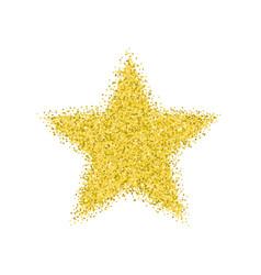 glitter golden star vector image