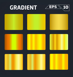 Gold gradient set vector