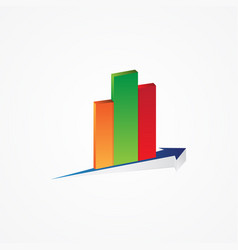graphs and chart vector image