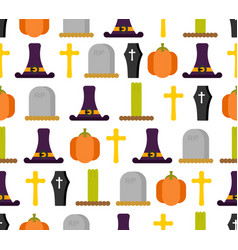 halloween seamless pattern background for vector image