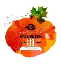 Halloween watercolor effect vector image