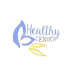 Healthy Center Beauty Promo Sign vector image