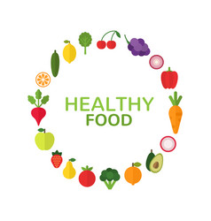 Healthy food concept diet and organic food vector