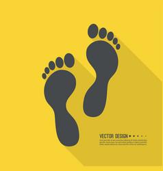 Human footprint icon vector