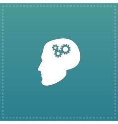 Human head gear hybrid knowledge vector image
