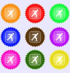 Ice skating icon sign Big set of colorful diverse vector image