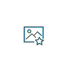 image icon design interaction icon line vector image