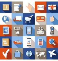 Internet shopping e-commerce online shopping set vector
