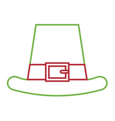Leprechauns hat ornament clothes icon vector