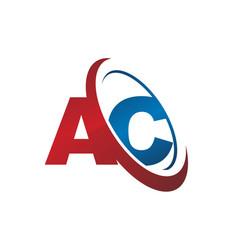 Letter ac logotype vector