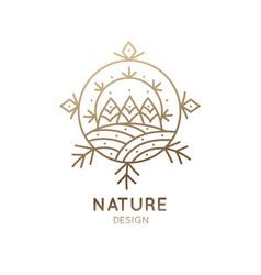logo christmas landscape vector image