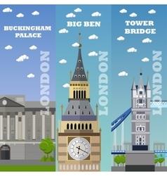 London tourist landmark banners vector image