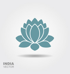Lotus flower flat icon vector