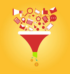 market with funneling vector image