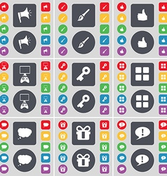 Megaphone Brush Like Game console Key Apps Chat vector image