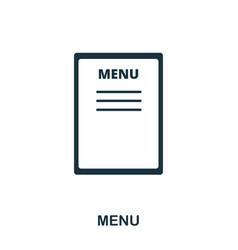 menu icon line style icon design ui vector image