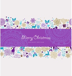 Merry christmas new year label deer holiday shapes vector