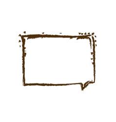 Monochrome hand drawn silhouette of rectangular vector