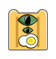 monster bread vector image