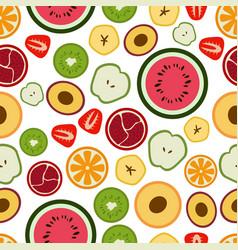 pattern of flat seasonal random fruits vector image