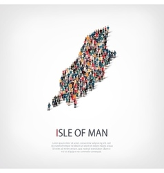 people map country isle man vector image