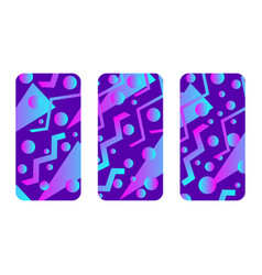 phone case mockup memphis pattern background vector image