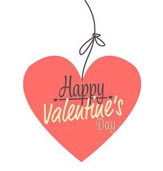 pink heart valentines vector image