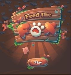 Play window Feed the Fox vector image