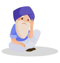 Punjabi man cartoon character vector