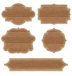 Retro Wooden Frames vector image