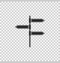 Road traffic sign signpost icon pointer symbol vector