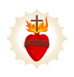 Sacred heart jesus christ vector