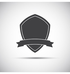 Simple shield icon flat style vector