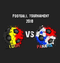 Soccer game belgium vs panama vector