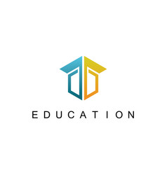 square education logo vector image