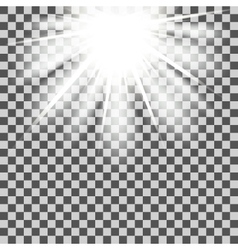 Star beams transparent vector image