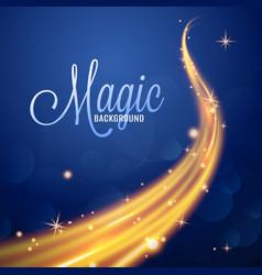 Starry magic glitter trail realistic vector