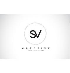 Sv s v logo design with black and white creative vector