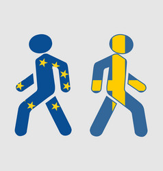 Sweden and european union relationships vector