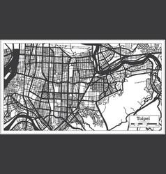 Taipei taiwan indonesia city map in black vector