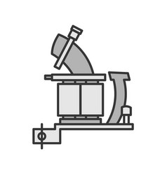 Tattoo machine frame with coils color icon vector