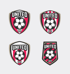 United soccer football badge logo vector