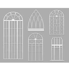 vintage windows white vector image