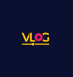 vlog logo on dark vector image